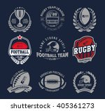 rugby logo vector colorful set  ... | Shutterstock .eps vector #405361273