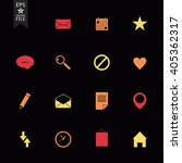 set of flat vector icons for... | Shutterstock .eps vector #405362317