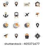 navigation icon set for web... | Shutterstock .eps vector #405371677