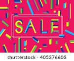 sale shining banner on colorful ... | Shutterstock .eps vector #405376603