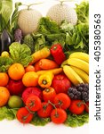 fresh fruits and vegetables | Shutterstock . vector #405380563