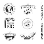 theater acting entertainment... | Shutterstock .eps vector #405381547