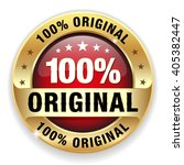 red 100 percent original badge... | Shutterstock .eps vector #405382447