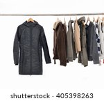 female dress with coat on... | Shutterstock . vector #405398263