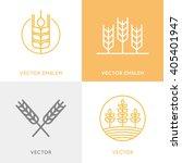 vector set of logo design... | Shutterstock .eps vector #405401947