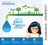save water concept. infographic ... | Shutterstock .eps vector #405403537
