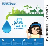 save water concept. infographic ... | Shutterstock .eps vector #405403543