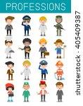 big set of cartoon vector...   Shutterstock .eps vector #405409387