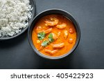 thai yellow curry with seafood... | Shutterstock . vector #405422923