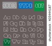 cubic type vector illustration. ... | Shutterstock .eps vector #405444187