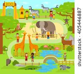 zoo infographics elements with ... | Shutterstock .eps vector #405446887