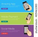 vector template   app ... | Shutterstock .eps vector #405461083
