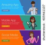 vector concept for app template ... | Shutterstock .eps vector #405461107