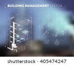 building management system... | Shutterstock .eps vector #405474247