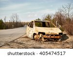 Burned To The Ground Car Wreck...
