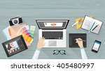 professional creative graphic... | Shutterstock .eps vector #405480997