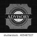 advisory chalk emblem  retro... | Shutterstock .eps vector #405487327