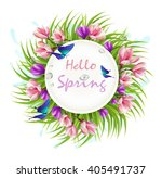 spring flower  beautiful... | Shutterstock .eps vector #405491737
