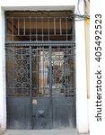 older metal gates.   Shutterstock . vector #405492523