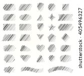 hand drawn scribble shapes. a... | Shutterstock .eps vector #405496327