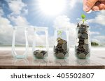 save money for prepare in the... | Shutterstock . vector #405502807
