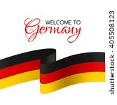 welcome to germany. vector... | Shutterstock .eps vector #405508123