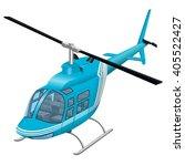 helicopter vector illustration  ... | Shutterstock .eps vector #405522427