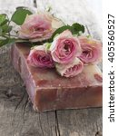 Natural Soap With Roses