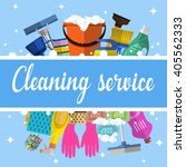 cleaning service flat... | Shutterstock .eps vector #405562333