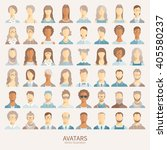 set of avatar icons. | Shutterstock .eps vector #405580237
