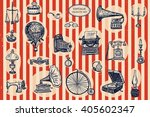 vintage objects vector graphic... | Shutterstock .eps vector #405602347