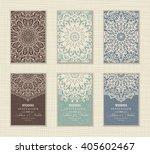 wedding invitation card arabic  ... | Shutterstock .eps vector #405602467