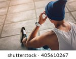 young hipster. lifestyle modern ... | Shutterstock . vector #405610267