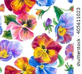 Colorful Pattern  Pansies...