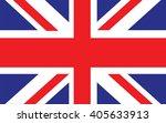 official uk flag of the united... | Shutterstock .eps vector #405633913