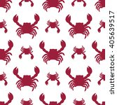 seamless crab pattern. vector... | Shutterstock .eps vector #405639517