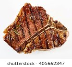 juicy thick grilled t bone beef ... | Shutterstock . vector #405662347