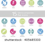 properties of fabrics and... | Shutterstock .eps vector #405685333