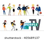 vector flat profession...   Shutterstock .eps vector #405689137