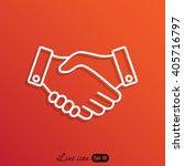 line icon    handshake | Shutterstock .eps vector #405716797