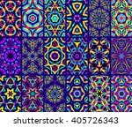set of colorful kaleidoscope... | Shutterstock .eps vector #405726343