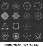 abstract geometric shapes ... | Shutterstock .eps vector #405750133