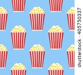 seamless pattern with popcorn... | Shutterstock .eps vector #405750337