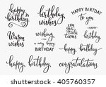 happy birthday lettering sign... | Shutterstock .eps vector #405760357