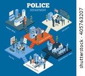 police department isometric... | Shutterstock .eps vector #405763207