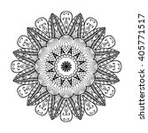 adult coloring page. mandala... | Shutterstock .eps vector #405771517