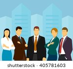 group of business people on a... | Shutterstock .eps vector #405781603