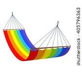 rainbow hammock isolated on... | Shutterstock .eps vector #405796363