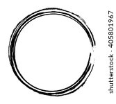 grunge circle frame  vector... | Shutterstock .eps vector #405801967