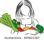 woman with vegetables nutrition ...